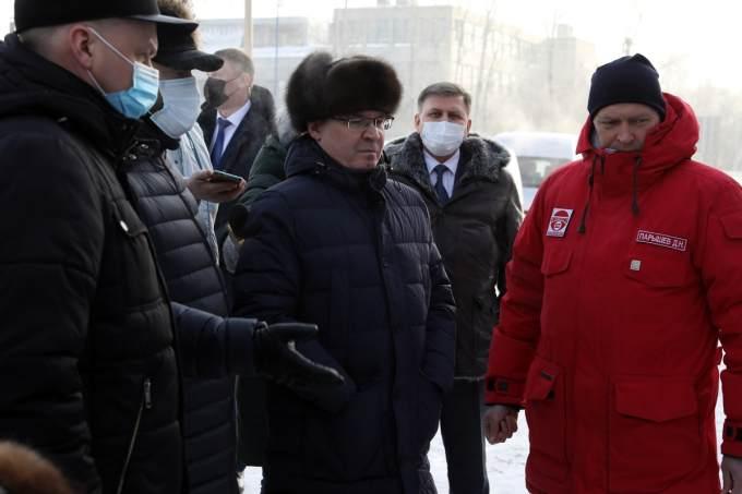 Якушев и Шумков проконтролировали ход строительства моста в Кургане стоимостью миллиард рублей