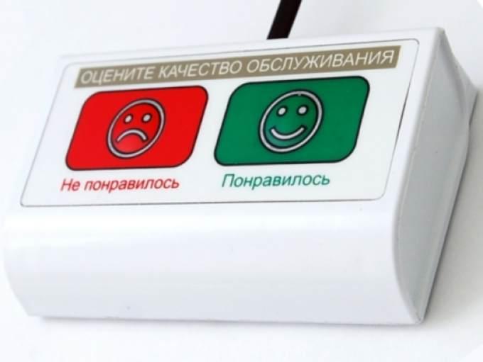 Кнопка оценки качества обслуживания клиентов